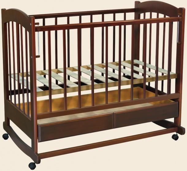 Детская кроватка Радуга, колесо-качалка Ведрусс