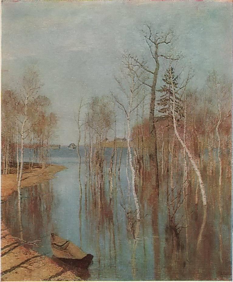 И. И. Левитан - Весна — большая вода