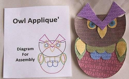 Аппликация сова для детей