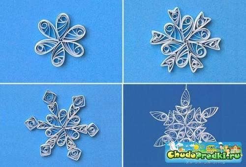 Снежинка из бумаги
