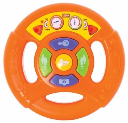 Музыкальная игрушка - Руль,  умеет имитировать звуки автомобиля