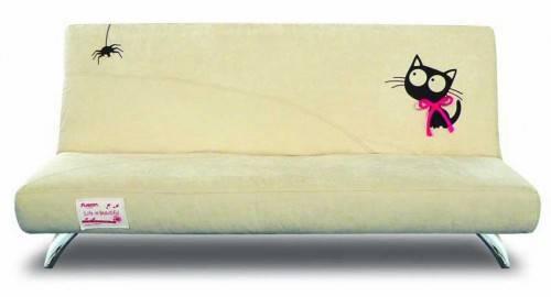 Дизайнерский диван клик-кляк с кошкой