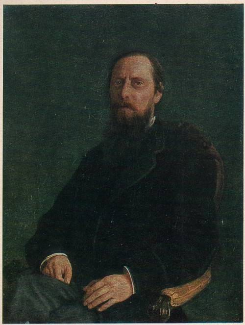 Николай Николаевич Ге - Портрет писателя М. Е. Салтыкова (Н. Щедрина)
