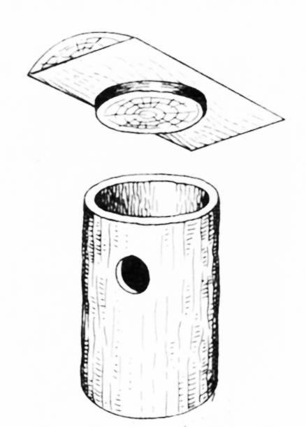 Дуплянка с открывающейся крышкой