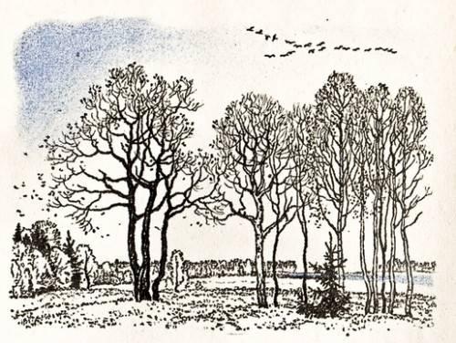 А. С. Пушкин - «Уж небо осенью дышало...»