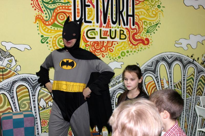 Супергерой Бэтмен на празднике в DETVORA-CLUB