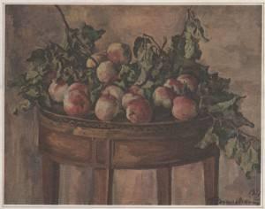 П. Кончаловский. Розовые яблоки на круглом столе.