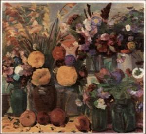 М. Сарьян. Ереванские цветы.